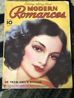Modern Romances Vintage Magazine October 1934