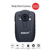 1296P 32GB FHD Police Body Worn Camera Audio Video Recorder Security DVR 140°
