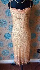 BETSEY JOHNSON Yellow & Pink Floral Silk Summer Dress - Size 12