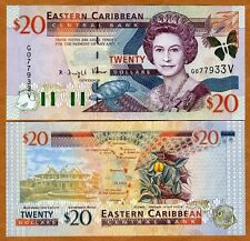 Eastern East Caribbean $20 (2000) St Vincent P-39v UNC > Scarce