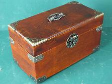 Schmuckkasten Kassette Schatulle Schmuckkassette Holz mit schönen Beschlägen