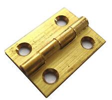 """2 Pack 1 """" 25mm in ottone massiccio trafilato testa CERNIERE SC + VITI [ HG206 ]"""