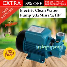 240V Water Pressure Pump 0.5HP Electric Farm Clean Irrigation Gardening Supplies
