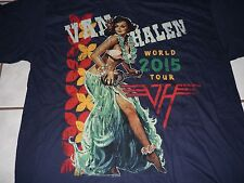 Van Halen Authentic 2015 tour shirt w/dates Xl Mint/New/Unworn vtg 1