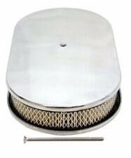 """CHEVY/FORD/MOPAR 15"""" OVAL POLISHED ALUMINUM AIR CLEANER - DOMED"""