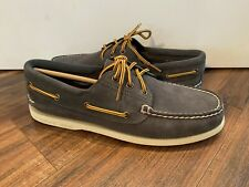 Sperry Top-Sider New 3 eye Suede Boot Lace Boat Shoe Men's Size US 9 MSRP $90