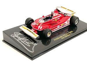 Jody Scheckter SIGNED Ferrari 312T4 Monaco 1979 GP F1 win, 1/43 cased, BNIB, COA