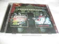 OBITUARY -SLOWLY WE ROT+CAUSE OF DEATH- AWESOME RARE PRESS 2CD SET BONUS TRACKS