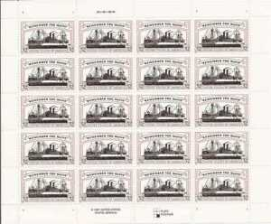 """US Stamp - 1998 """"Remember the Maine"""" - 20 Stamp Sheet - Scott #3192"""