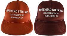 Morehead Steel INC KY Kentucky Snapback Mesh Trucker Cap Hat VTG Lot of 2