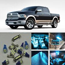 9×Ice blue Interior LED Light Kit for Ram 1500,2500,3500 (2011-2015)