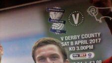 Birmingham City v Derby County - 8 April 2017 + Match Ticket