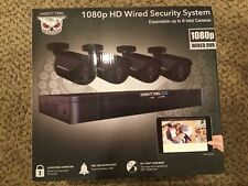Night Owl Cctv Video Home Security Camera System with 4 Wired 1080p Hd