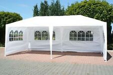 BIRCHTREE 6M x 3M Party Tent Marquee Gazebo TWO SUPPORT BEAMS Waterproof White