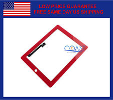 iPad 3 & iPad 4 Replacement Touchscreen Digitizer Front Panel - Red