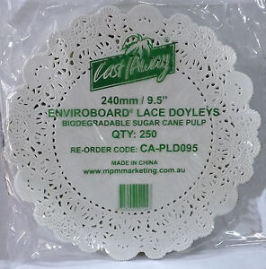 Paper Lace Doyley Round 240mm pack of 250.  80250