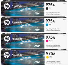 A Set Genuine HP 975A L0R97AA Bk, L0R88AA C, L0R91AA M, L0R94AA Y Cartridges