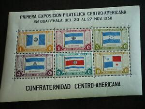 Stamps - Guatemala - Scott# C99 - Souvenir Sheet