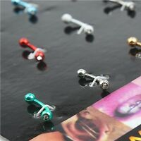 Eyebrow Tongue Stainless Steel Ear Nose Lip Body Multicolor Piercing Studs