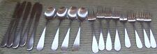 Rogers  Korea Flatware Stainless knife spoon fork rare set 17 SRB14 oval handle