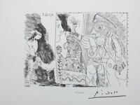 Picasso (Según ) : Escritor Y Musa - Litografía Erótica Firmada #1200ex
