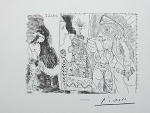 Picasso (After) : Writer And Muse - Lithography Erotic Signed #1200ex