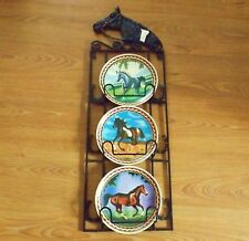Horse Folding Plate Holder With 3 Horse Plates