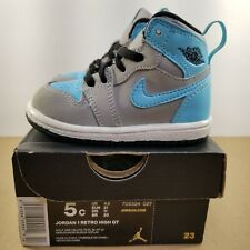 Nike Air Jordan 1 Retro High GT Toddler's Shoe Size:5c 705324 027 Grey/Lite Blue