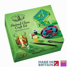 Stained Glass Craft Kit Stain Glass Decorate Your Own Candle Holder Craft Set