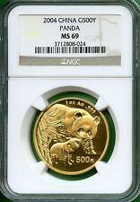 CHINA 2004  PANDA  GOLD 1 OZ  NGC MS 69    500 YUAN