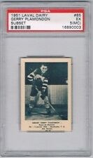 1952 Laval Dairy Subset Hockey Card Montreal Royals G Plamondon Graded PSA 5(MC)