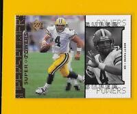 27194 BRETT FAVRE 1998 UPPER DECK GREEN BAY PACKERS SUPER POWERS CARD #S4 🏈