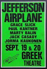 JEFFERSON AIRPLANE Vintage Boxing Style Concert Poster LA 1989 Grateful Dead