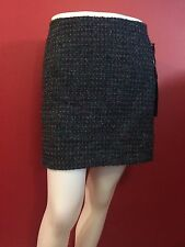 WILLI SMITH Women's Teal/Black/Gray Wool Blend Knit Skirt - Size 4 - NWT