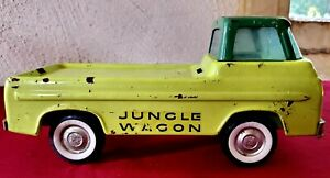 Vintage 1960s Nylint Jungle Wagon Ford Econoline Pressed Steel Metal Toy Truck