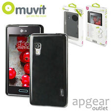 Genuine MUVIT LG Optimus l5 II e460 Nero Gel MUSKI 0170 Telefono Custodia Cover al dettaglio