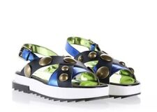 NIB DIESEL D-ALLS LOW WOMES STRAP SANDALS BLUE IRIS/BLUE DIAMA Orig $310