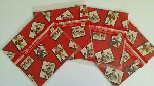 Lot of 4:Cleo Disney Scrooge McDuck, Huey, Louie & Dewey wrapping paper Xmas