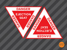 Ejection Seat Decal / Ejector Seat Sticker / Danger Ejection Seat / Mini decals