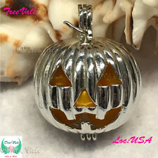 Scary Voices Pumpkin - Pearl Cage Pendant -  Fun Gift!!