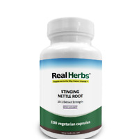 Real Herbs Stinging Nettle Root - 750mg - 100 Vegetarian Capsules