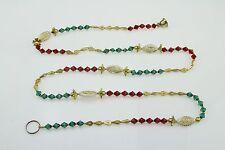 Crystal Red/Green/Gold Tear Drop Bead Chain/Garland/Ladi/Toran/Door/Wall Hanging