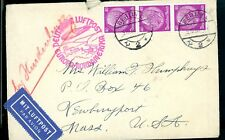Germany 1936 Hindenberg Airmail postal cover Berlin Central Hotel Stationary