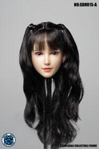 """SUPER DUCK SDH015A 1/6 Female Head Sculpt Head Model Fit 12"""" Steel Skeletal Body"""