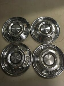 "4 14"" 1966 66 1967 Ford Mercury Comet Hubcaps Rim Wheel Covers 14"" OEM C7GY1130A"