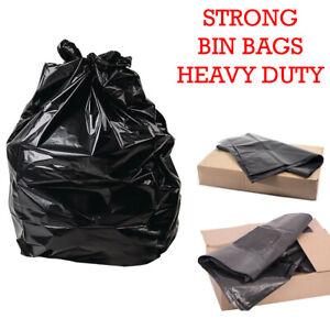 Heavy Duty Black Refuse Sacks Strong Bin Liners Dustbin Bags - 100 200 400 1000*