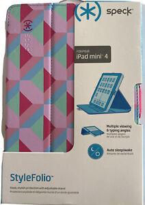 Speck Stylefolio Case iPad Mini 4 -Geo Strawberry/Fuchsia Pink/Beaming Orchid