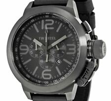 DISPLAY ITEM TW STEEL $675 Canteen Men's Quartz Chronograph Leather Watch Tw821