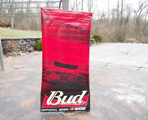 "Budweiser King Of Beers DALE EARNHARDT JR. Large 70"" x 34"" Nylon Banner NOS 2000"