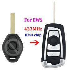 Modified flip 433MHZ remote key fob for BMW EWS E38 E39 E46 with ID44 chip HU92